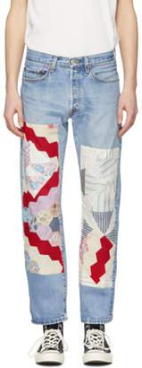 B Sides Indigo Bode Edition Quilt 2 Patchwork Jeans