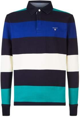 Gant Cotton Stripe Printed Rugby Shirt