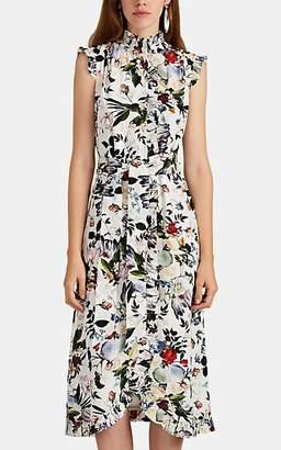 Erdem Women's Sebla Silk Crepe Dress - White Multi