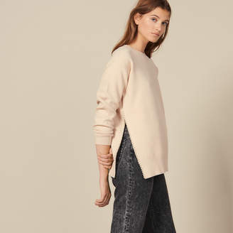 Sandro Bead-Embroidered Sweater With A Vent