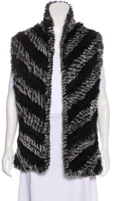 Marc by Marc Jacobs Fur Open Front Vest