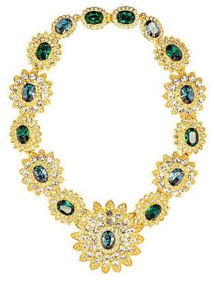 Kenneth Jay Lane Sapphire Emerald Stones Centers Necklace