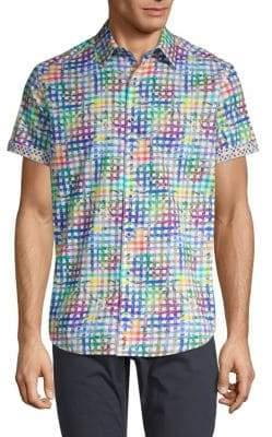 Robert Graham Printed Short-Sleeve Button-Down Shirt