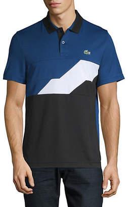 Lacoste Short-Sleeve Ribbed Collar Polo