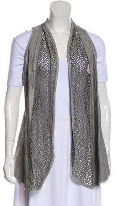 Illia Leather-Accented Vest