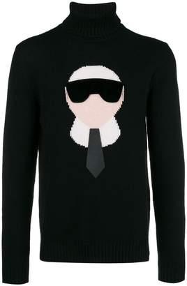 Fendi cashmere intarsia Karlito sweater