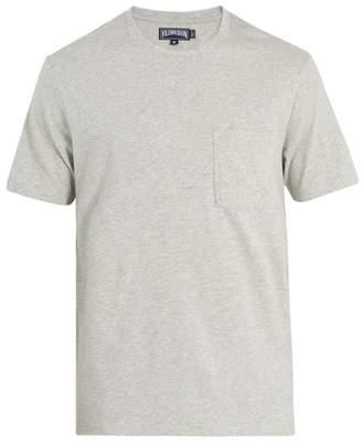 Vilebrequin Logo Embroidered Cotton T Shirt - Mens - Grey