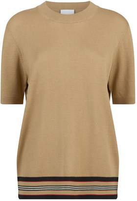 Burberry Wool Short-Sleeve Sweater
