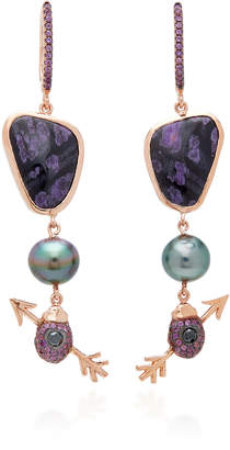 Daniela Villegas 18K Rose Gold Multi-Stone Earrings