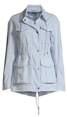 ATM Anthony Thomas Melillo Striped Sleeve Field Jacket
