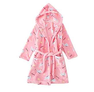 Lantesi Bathrobes Sleepwear Hoodie for Kids