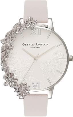 Olivia Burton Case Cuff Leather Strap Watch, 38mm