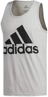 adidas Men's Heathered Logo Tank Top