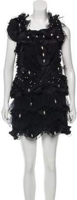 Marc Jacobs Crystal Pearl Sleeveless Mini Dress