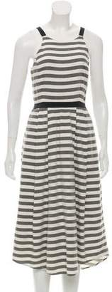 Hunter Bell Striped Midi Dress
