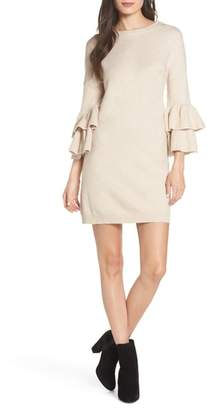 BB Dakota Ruffle Sleeve Sweater Dress