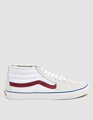 Vans Sk8-Mid Sneaker in True White/Marshmallow