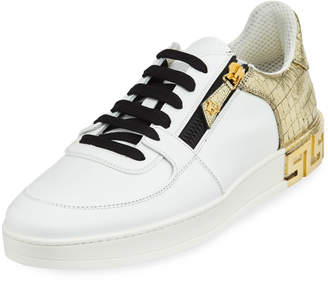 Versace Men's Tribute Leather Low-Top Sneakers