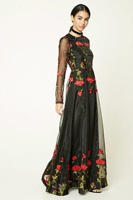 FOREVER 21+ Floral Embroidered Maxi Dress $59.90 thestylecure.com