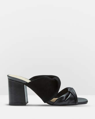 Oxford Luna Leather And Suede Mules
