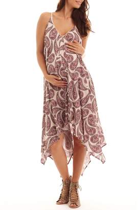 Everly Grey Maternity Birgit Handkerchief Dress (Maternity)