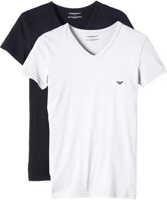 Emporio Armani 2-Pack Stretch Cotton Men's V-Neck T-Shirts