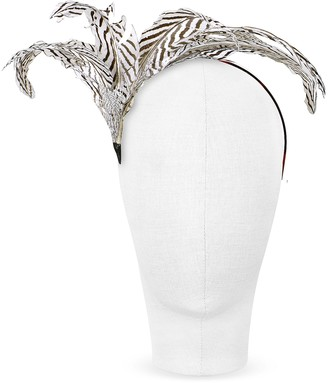Nana Nana' Beverly - Black and White Feather Flower Headband
