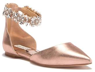 Badgley Mischka Morgen II Metallic d'Orsay Flat