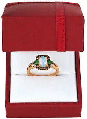 Levian Chocolatier Vanilla Diamonds, Chocolate Diamonds, 14K Rose Gold Ring $1,768 thestylecure.com