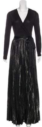 Diane von Furstenberg Pleated Maxi Dress