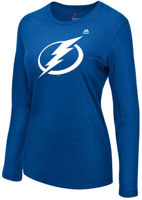 Majestic Women Tampa Bay Lightning Primary Logo Long Sleeve T-Shirt