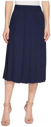 Lacoste Twill Crepe Long Pleated Skirt Women's Skirt