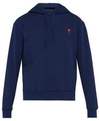 Ami De Coeur Embroidered Hooded Sweatshirt - Mens - Navy