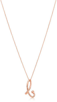Tiffany & Co. Elsa Peretti& Alphabet pendant in 18k rose gold Letters A-Z available - Size B