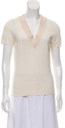 Christian Lacroix Beaded Silk Top