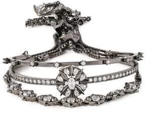 Noir Gunmetal-Tone Crystal Bracelet