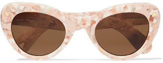 Cat Eye Lucy Folk - Wingspan Cat-eye Acetate Sunglasses - Pink