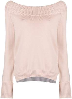 Zanone boat neck knitted jumper