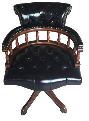 EasternLegends Leather Bankers Chair