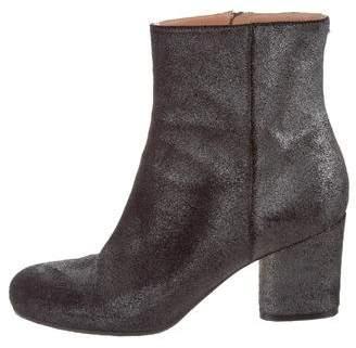 Maison Margiela Metallic Suede Ankle Boots