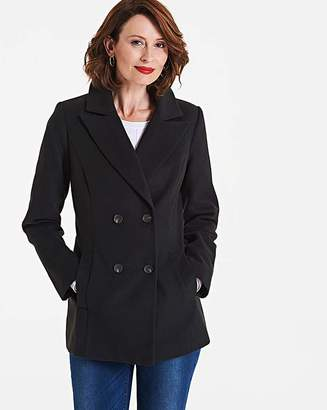 Fashion World Double Breasted Short Collar Coat