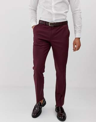 Asos Design DESIGN slim suit pants in light burgundy