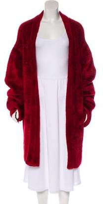 Alaia Textured Open Front Cardigan