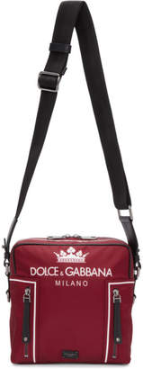 Dolce & Gabbana Red Crown Crossbody Bag