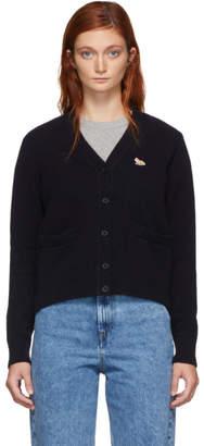 MAISON KITSUNÉ Navy Wool Classic Cardigan