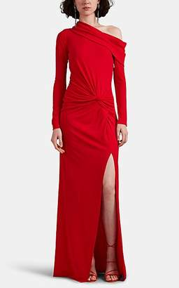Prabal Gurung Women's Twist-Detailed Jersey Off-The-Shoulder Gown - Red