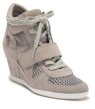 Ash Bowie Suede Perforated Wedge Sneaker