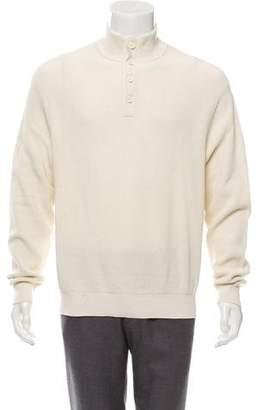 Ralph Lauren Purple Label Waffle Knit Mock Neck Sweater w/ Tags