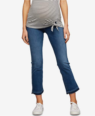 A Pea in the Pod 7 For All Mankind Maternity Cropped Boot-Cut Jeans