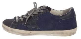 Golden Goose Denim Low-Top Sneakers